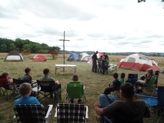 Mass at camp